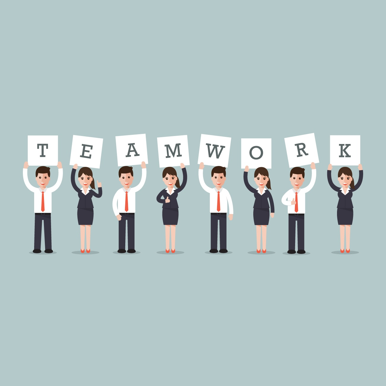 <a href=&quot;http://www.freepik.com/free-vector/business-men-and-women-with-the-word-teamwork_958505.htm&quot;>Designed by Freepik</a>